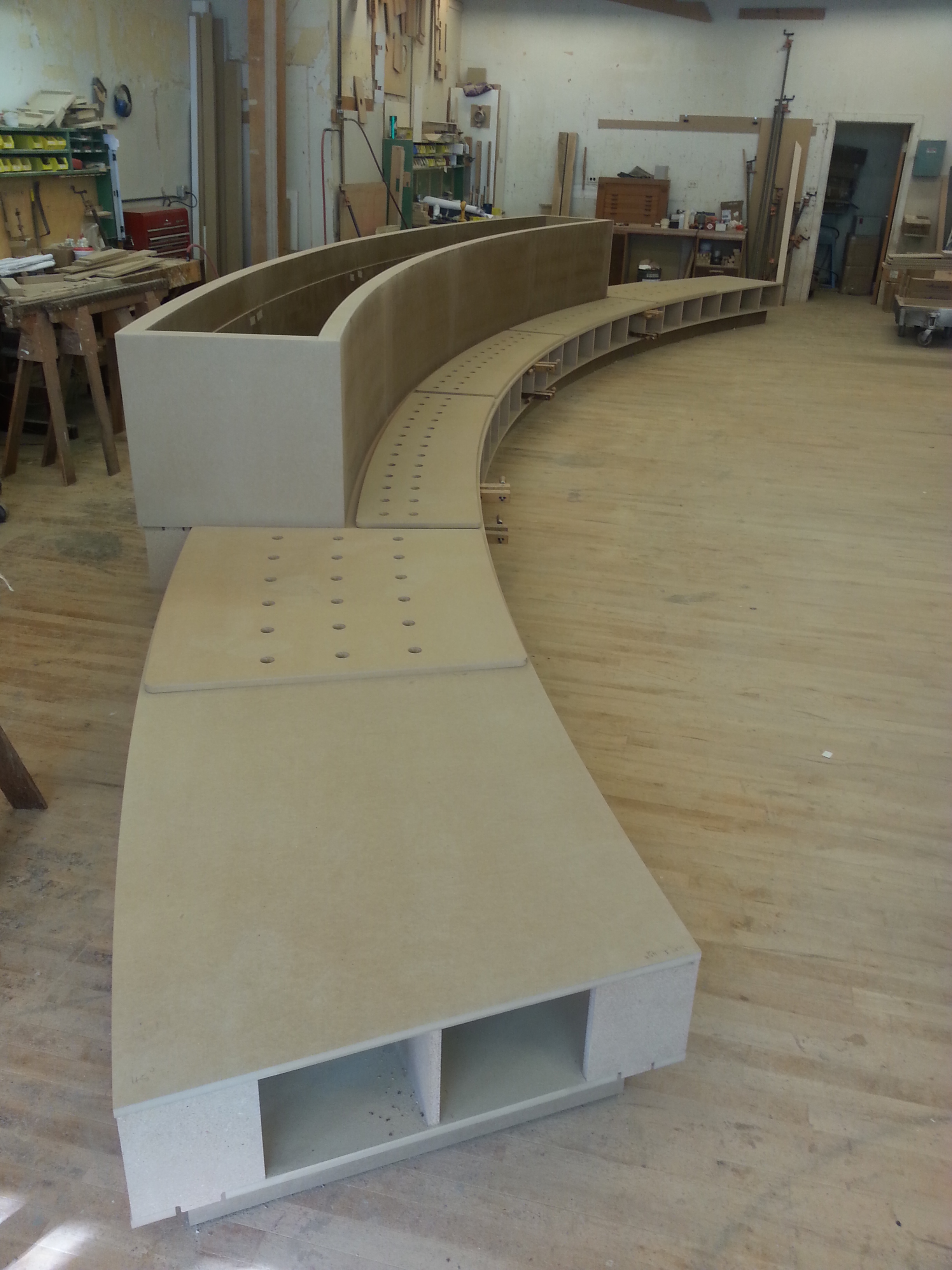 1 S Wacker Planter Seating In Progress #2