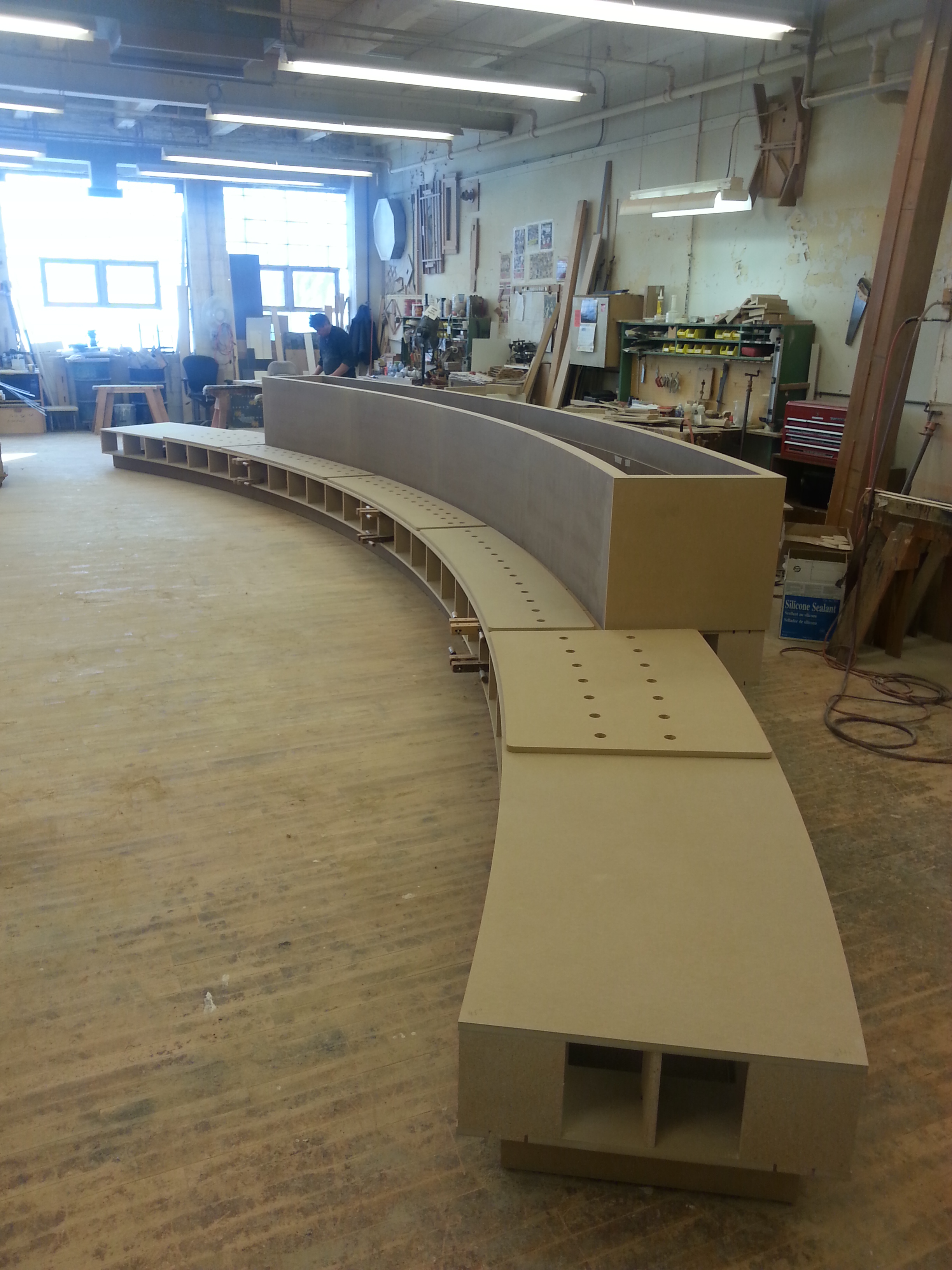 1 S Wacker Planter-Seating In Progress